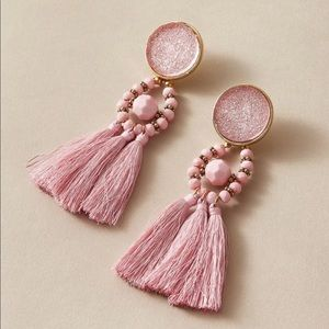 NWT Pink statement earrings